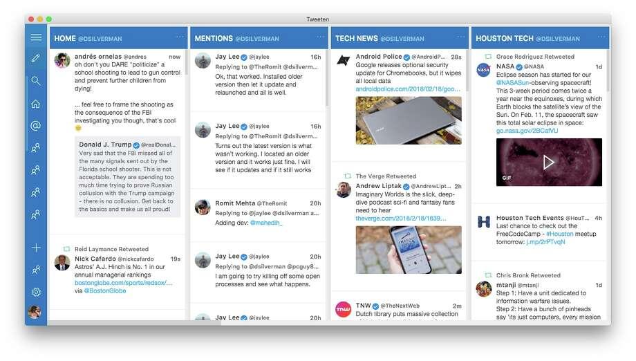 Tweeten for Mac. Photo: Chronicle Screenshot
