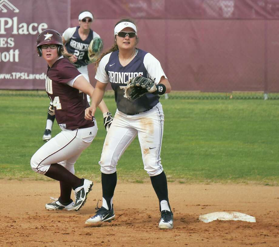 Right fielder Maddison Schofield hit her first career home run but the Dustdevils lost a 4-0 lead after a 10-run fourth inning in a 12-4 defeat in five frames to UCCS Sunday. Photo: Cuate Santos /Laredo Morning Times File / Laredo Morning Times