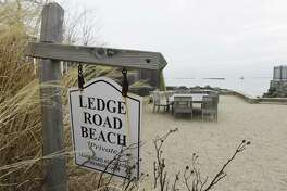 A members only beach for Ledge Road Association members in Old Greenwich, Conn., photographed on Tuesday, Feb. 6, 2018.
