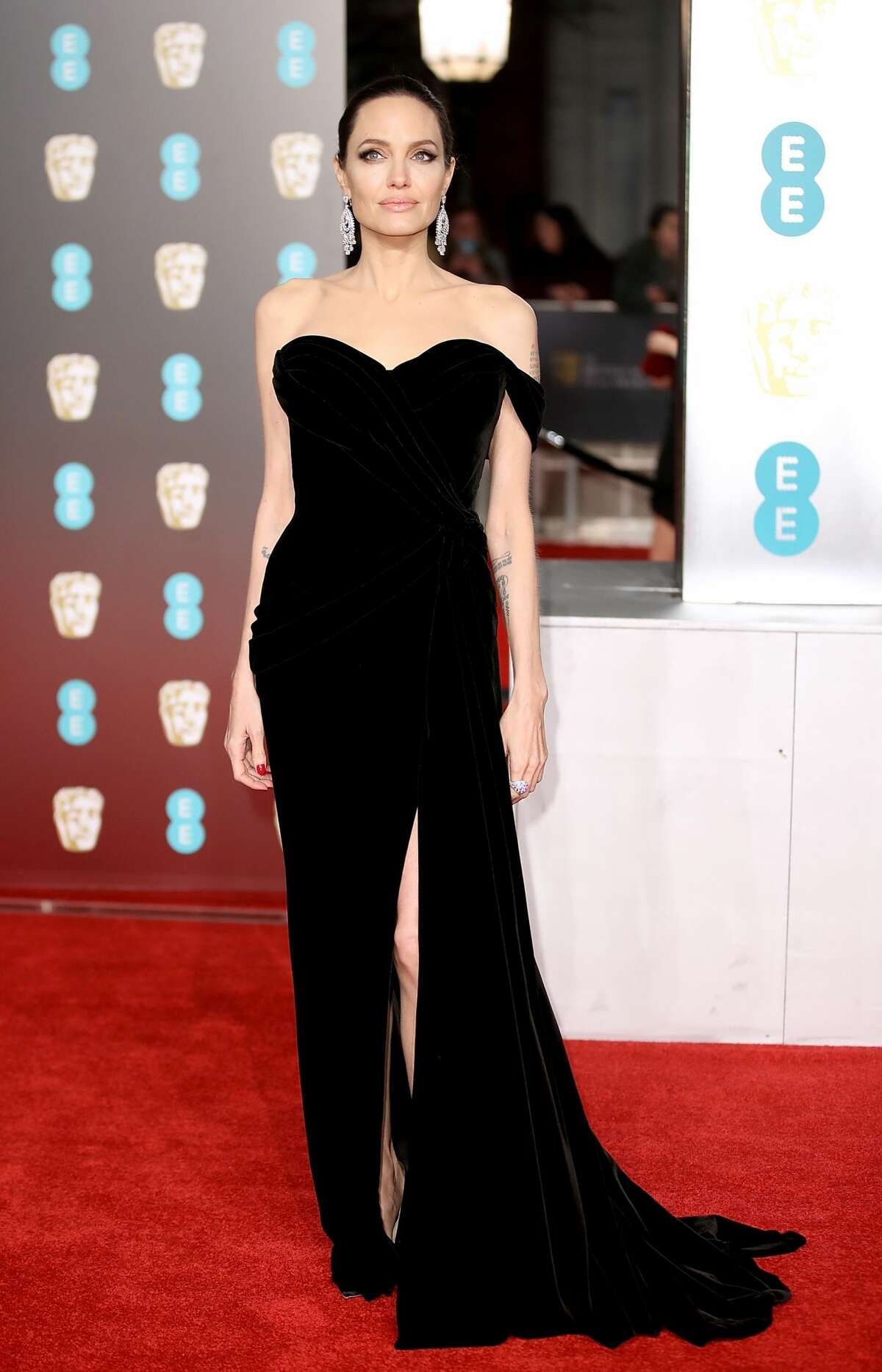 Best: Angelina Jolie doesn't stray too far from what she does best. Sweetheart necklines and slits.