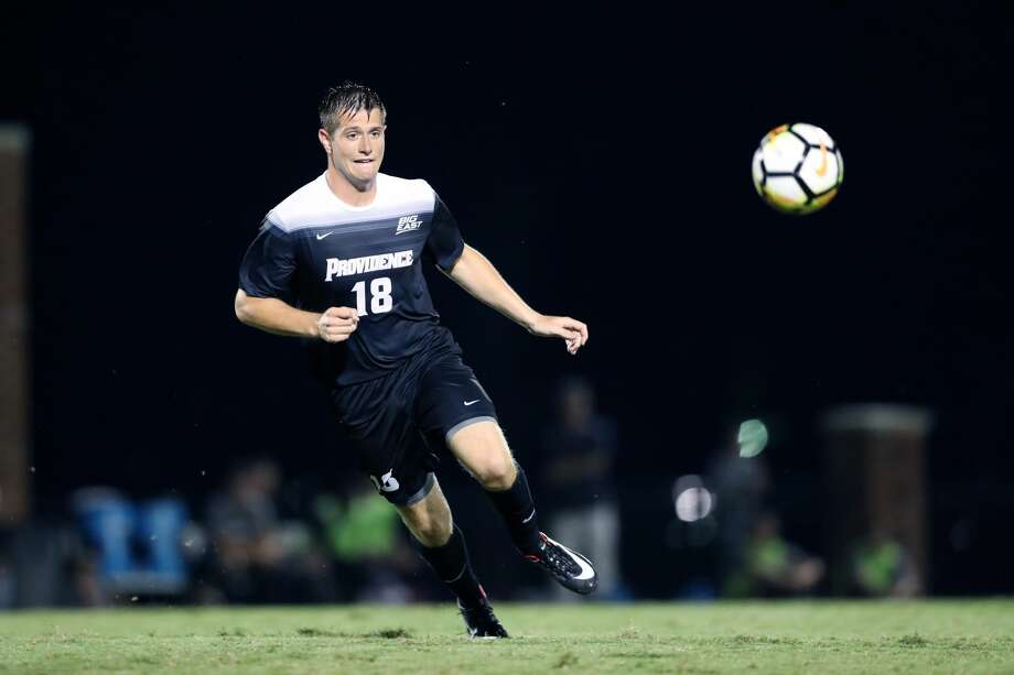 Providence College product Mac Steeves has signed a first-team contract with the Dynamo. The forward was picked in the second round of January's MLS SuperDraft. Photo: Icon Sportswire/Icon Sportswire Via Getty Images