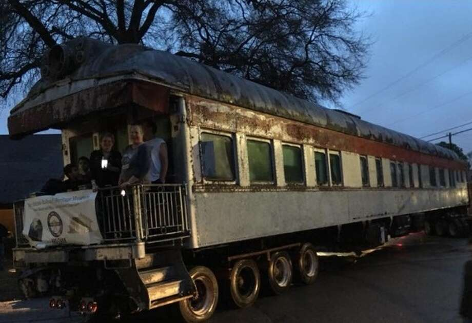 "A Southern Pacific passenger railroad car named ""The Alamo"" was a source of pride in Pasadena's Mount Vernon neighborhood for more than 30 years before it was hauled to a railroad museum in Elmendorf on Feb. 8"