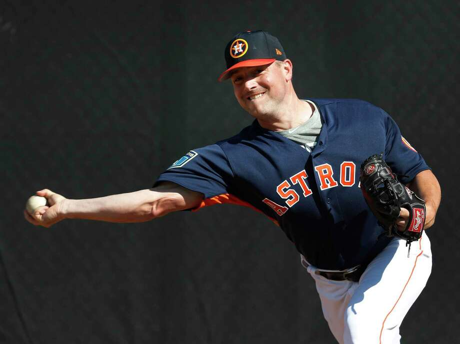 PHOTOS: 2019 Astros game-by-game Houston Astros RHP pitcher Joe Smith (38) thows a bullpen session as the pitchers and catchers worked out during spring training at The Ballpark of the Palm Beaches, Thursday, Feb. 15, 2018, in West Palm Beach. >>>See how the Astros have fared in each game this season ... Photo: Karen Warren, Houston Chronicle / © 2018 Houston Chronicle