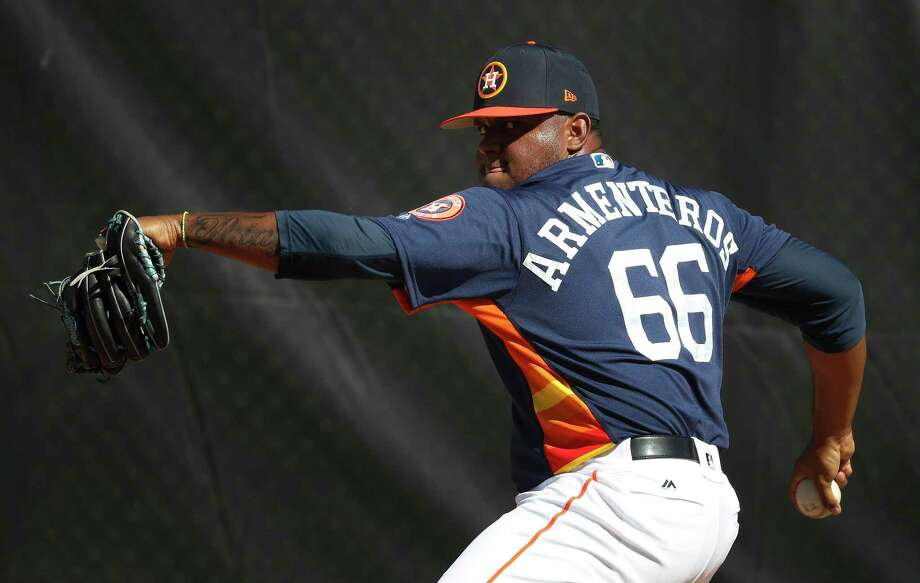 PLAYERS AT ASTROS MAJOR-LEAGUE SPRING TRAININGPitchersRogelio ArmenterosOne of the Astros' top starters at Class AAA Fresno last season. Photo: Karen Warren, Houston Chronicle / © 2018 Houston Chronicle