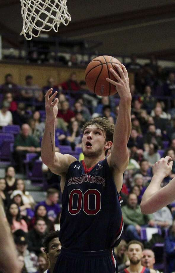 Saint Mary's guard Tanner Krebs shoots against Portland during the second half of an NCAA college basketball game in Portland, Ore., Saturday, Feb. 17, 2018. Saint Mary's won 73-61. (AP Photo/Steve Dipaola) Photo: Steve Dipaola, Associated Press
