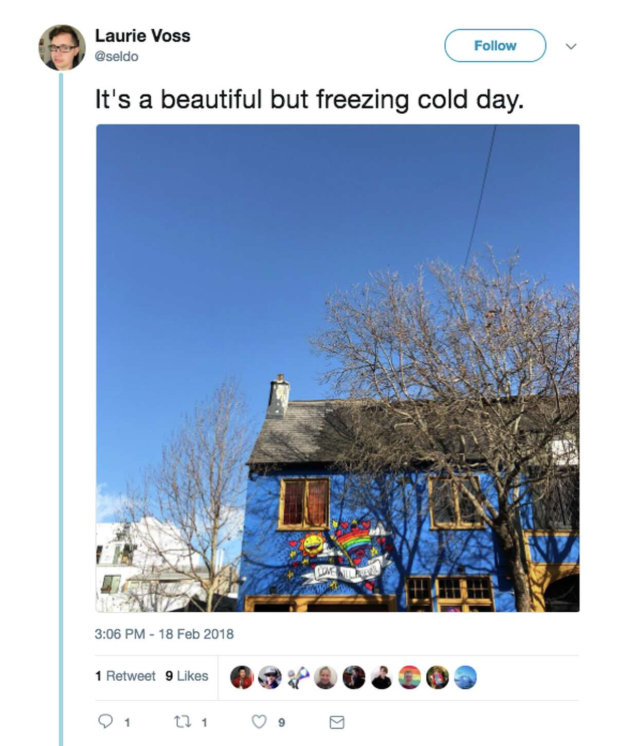Bay Area locals took to Twitter to complain about the cold temperatures and wind, with a cold snap expected to plunge to record lows Monday night.