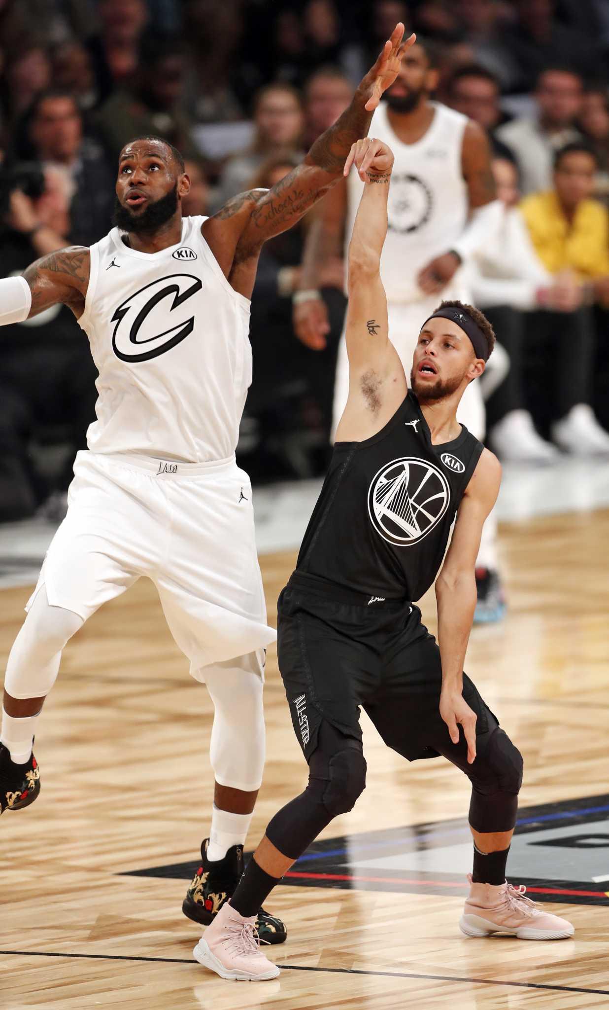 Team LeBron tops Team Stephen in competitive NBA All-Star game - Houston  Chronicle 2b2b5cdd0