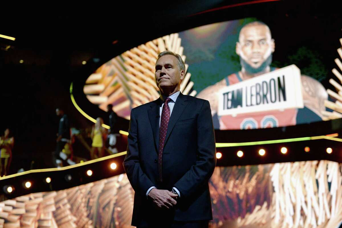 LOS ANGELES, CA - FEBRUARY 18: Team Stephen head coach Mike D'Antoni introduced onstage during the NBA All-Star Game 2018 at Staples Center on February 18, 2018 in Los Angeles, California.