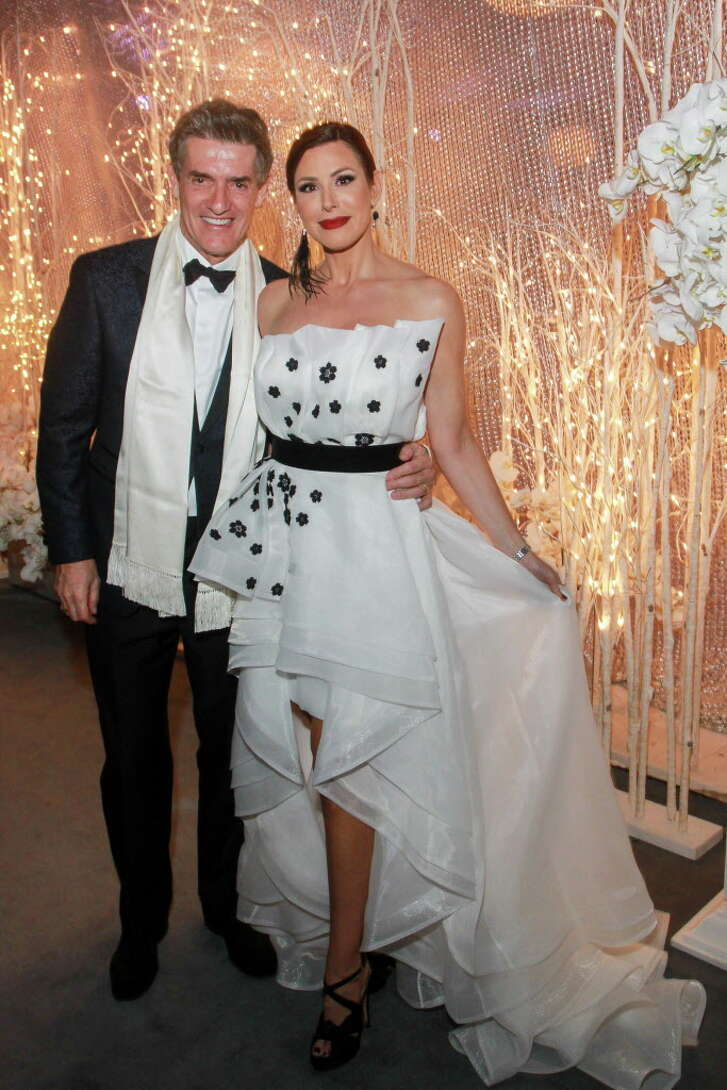 Nick Florescu and Dominique Sachse at the Houston Ballet Ball.