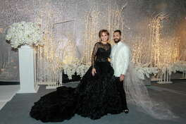 Chair Hallie Vanderhider and Fady Armanious at the Houston Ballet Ball.