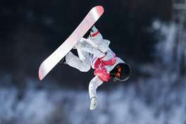 Julia Marino, of Westport, Conn., advanced to the finals of the women's snowboarding big-air competition on Thursday night after qualifying on Monday at the 2018 Winter Olympics in Pyeongchang, South Korea. Here, she competes on Monday at the Alpensia Ski Jumping Centre.