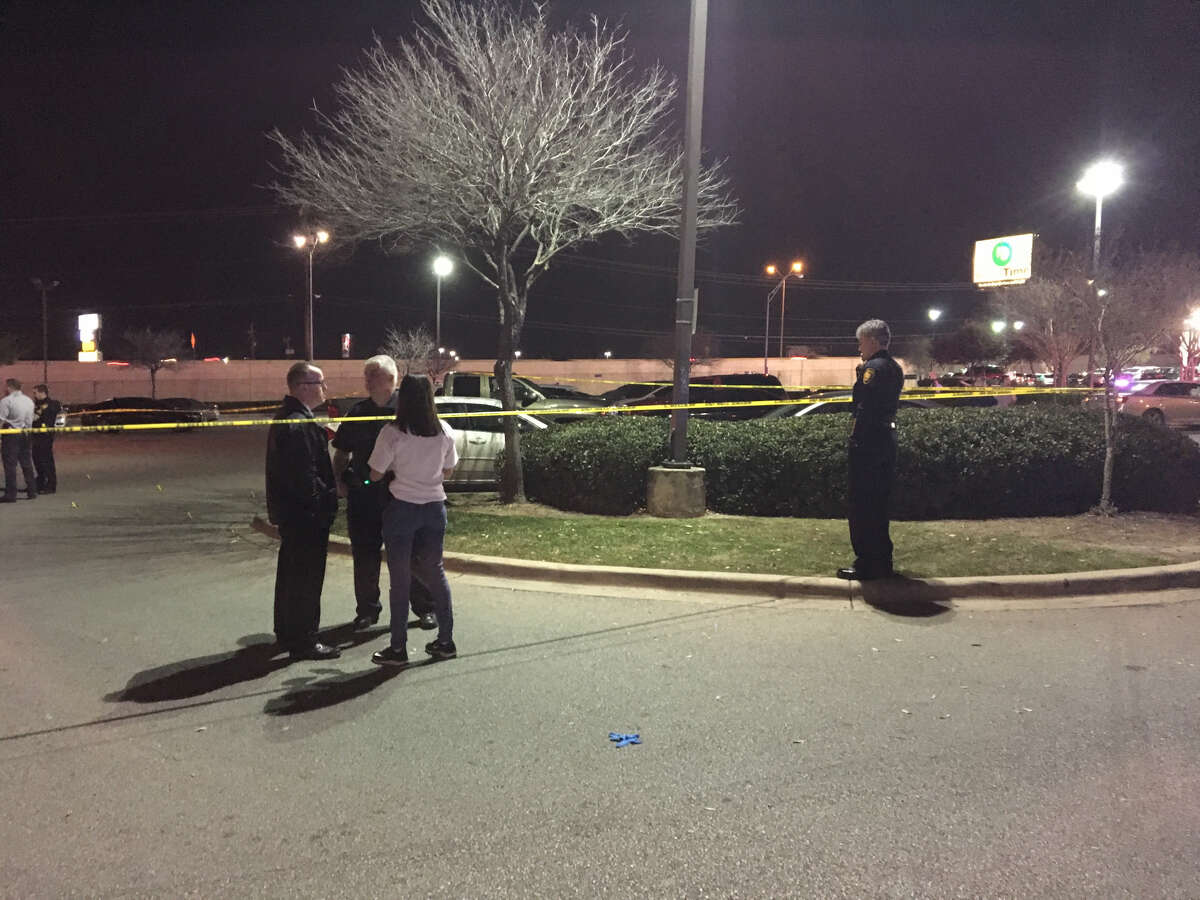 San Antonio police say four people, including a 6-year-old boy, were shot Sunday evening, Feb. 18, 2018, at a popular Northwest Side Steakhouse chain. Two people were transported to an area hospital in critical condition. The other two victims, including the child, have non-life-threatening injuries.