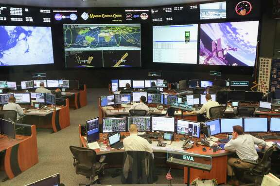 NASA's Mission Control has been upgraded from sea foam green consoles, switches and buttons to free-standing computers, mouses and keyboards.
