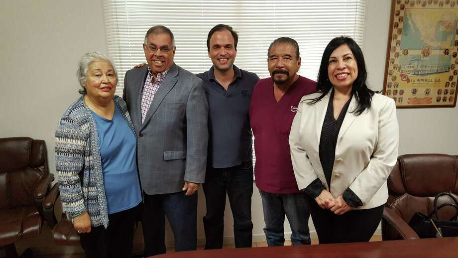 The Laredo Webb County Advisory Board members elected new officers for the 2018 year. Pictured from left to right are Rosie Centeno, secretary, Erasmo Villarreal, treasurer, Sergio Mora, chairman elect, Dr. Henry Carranza, outgoing chairman and Julie Bazan, vice chairman. Photo: Cort