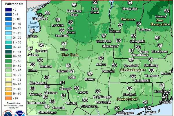 We are expecting some record breaking warmth Tuesday to Wednesday this week across eastern NY and western New England. Attached are Tuesday highs.