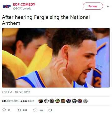 44f3922de2ab 2of14Twitter users let loose after Fergie s memorable rendition of the  National Anthem before the NBA All-Star Game on Sunday