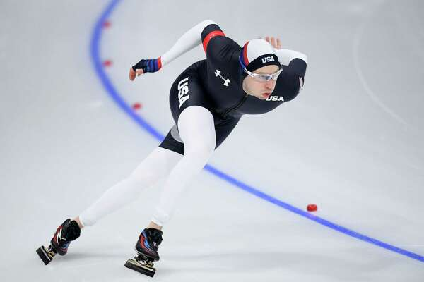 GANGNEUNG, SOUTH KOREA - FEBRUARY 19:  Jonathan Garcia of the United States competes during the Men's 500m Speed Skating on day 10 of the PyeongChang 2018 Winter Olympic Games at Gangneung Oval on February 19, 2018 in Gangneung, South Korea.
