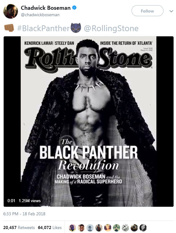 Black Panther  actor Chadwick Boseman shares revealing Rolling Stone  cover d0954584e