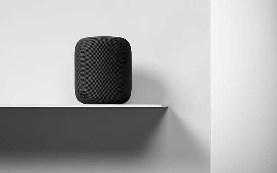 Apple's HomePod: In the living room of the future, smart speakers will be a central feature, with newer models connected to every element in your home.  Photo: Apple / Bloomberg