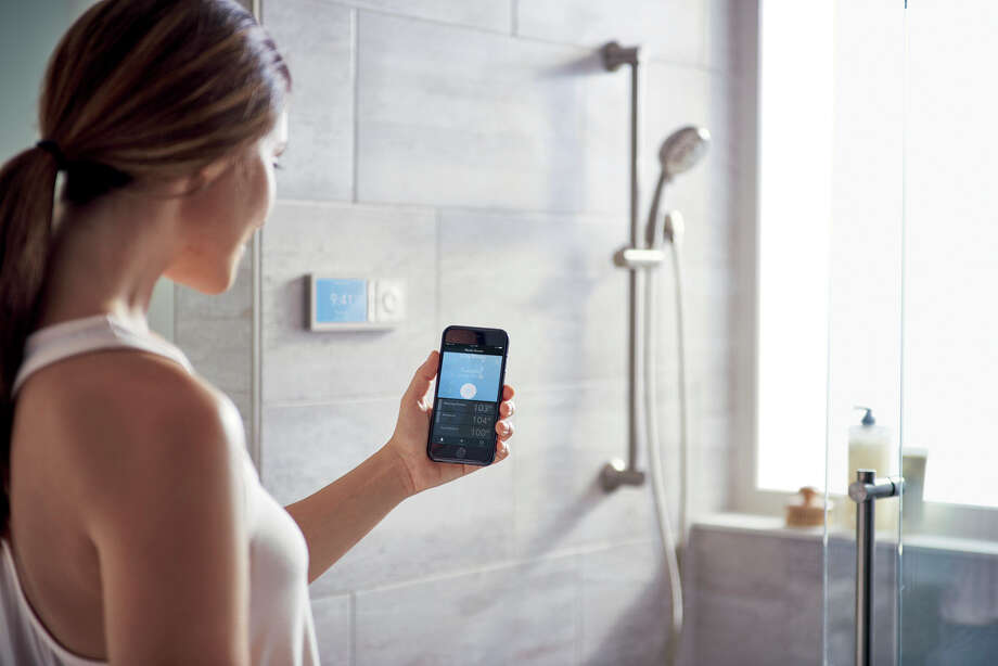 Moen's smart shower system can be operated with Amazon's Alexa.  Photo: Moen) / Bloomberg