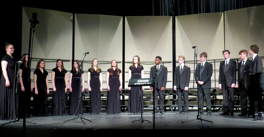 The Edwardsville High School choirs hosted a concert Feb. 13. Pictured here is the Chamber Choir. Photo: Carol Arnett • Carnett.edwi@gmail.com