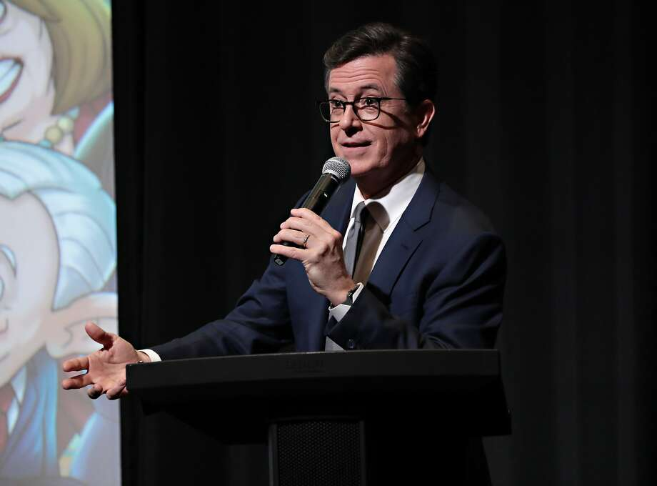 Executive Producer Stephen Colbert speaks as Stephen Colbert, Chris Light and R.J. Fried host an exclusive screening of OUR CARTOON PRESIDENT on February 7, 2018 in New York City. Photo: Cindy Ord, Getty Images For SHOWTIME