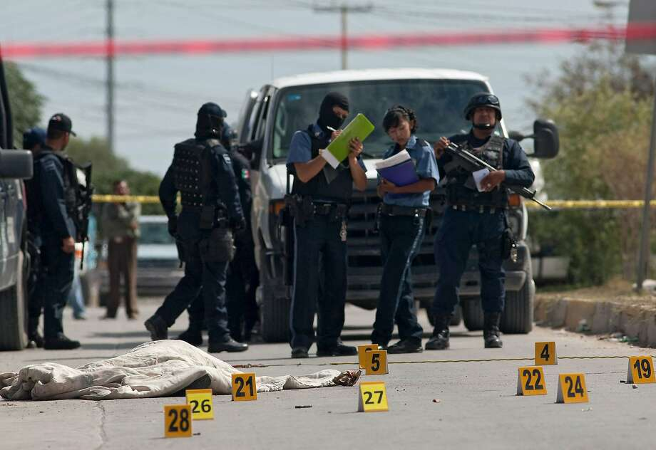 Ciudad Juarez (pictured) was the fifth-most violent city in the world with a homicide rate of 85.56 per 100,000 people. Two U.S. cities were also in the top 25. >>> Click through to see the other cities on the list Photo: JESUS ALCAZAR