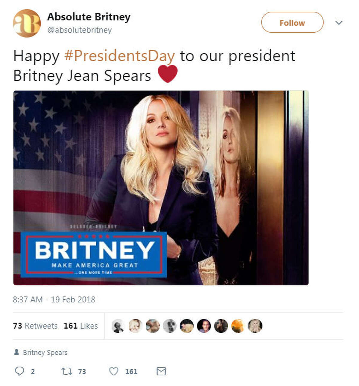 President's Day has Twitter users reminiscing about Barack Obama and imagining a world where singer Britney Spears is commander-in-chief.