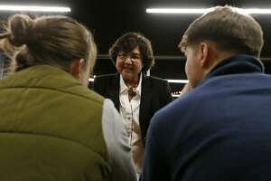 Texas Democratic gubernatorial candidate and former Dallas County Sheriff Lupe Valdez met had a meet-and-greet held in January at Alamo Beer.