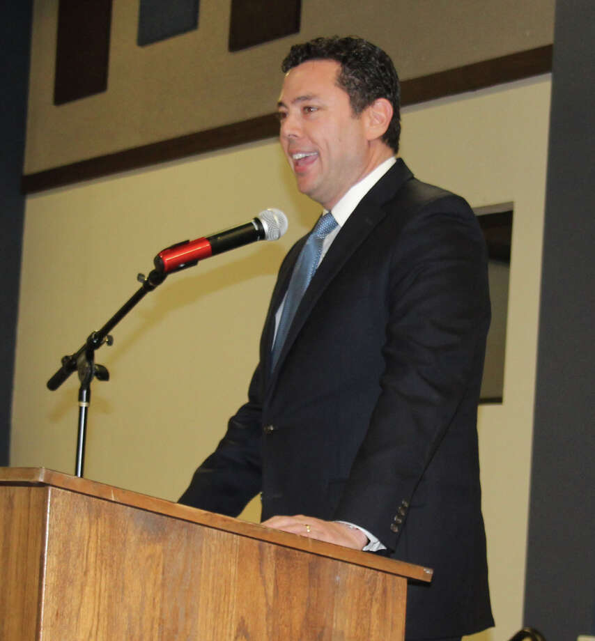 Jason Chaffetz is the guest speaker of the San Jacinto County Republican Party's annual Reagan Dinner on Feb. 17. He discussed much of his own background, personal philosophy and the Benghazi incident. Photo: Jacob McAdams