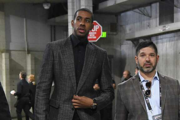 LOS ANGELES, CA - FEBRUARY 18:  LaMarcus Aldridge arrives to the NBA All-Star Game 2018 at Staples Center on February 18, 2018 in Los Angeles, California.  (Photo by Jayne Kamin-Oncea/Getty Images)