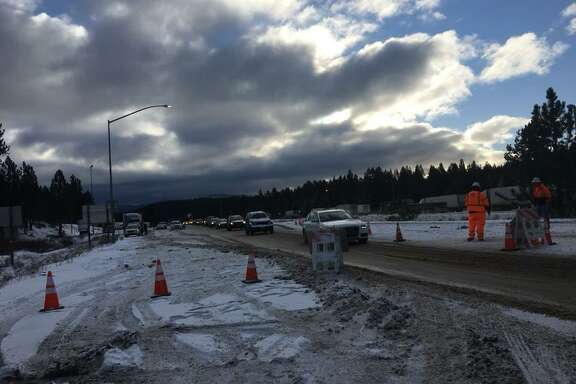 Record low temperatures are expected throughout the Bay Area this week, forecasters said. Travelers from the Tahoe area were warned of icey driving conditions.