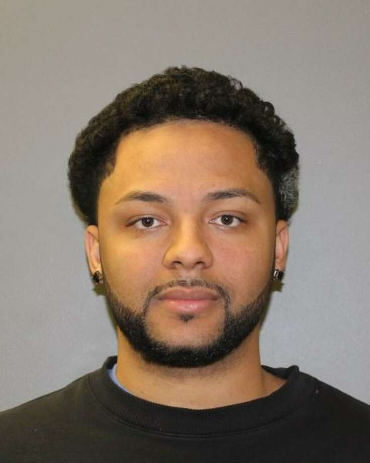 "Jerome Rumley, 25, of Waterbury, was arrested Sunday after he reportedly pointed a ""silver gun"" at a 43-year-old woman in Hamden. Photo: Photo Courtesy Of Hamden Police"