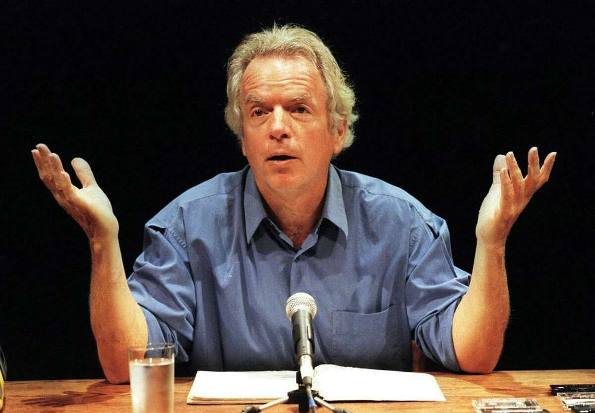 Actor-writer-monologist Spalding Gray performs his monologue,