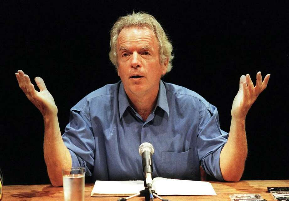 "Actor-writer-monologist Spalding Gray performs his monologue, ""Morning, Noon and Night,"" at the Beaumont theater in New York in 1999.  ( Sara Krulwich / Associated Press) Photo: SARA KRULWICH / THE NEW YORK TIMES"