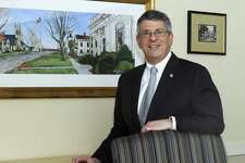 Kenneth Weinstein, is the new president and CEO of Newtown Savings Bank. Photo Monday, Feb. 12, 2018.