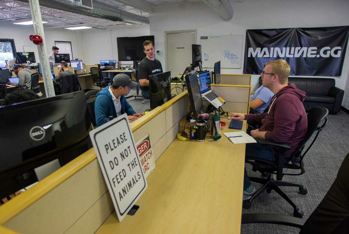 Coders at FanReact and Mainline code in their office at The Cannon in west Houston, Wednesday, Feb. 7, 2018. The site will soon be torn down and rebuilt into what developers are calling a new tech hub in west Houston called the Founder's District. ( Mark Mulligan / Houston Chronicle )