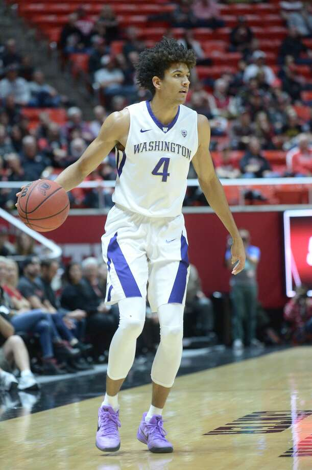 Washington Huskies senior guard Matisse Thybulle was named Pac-12 Player of the Week on Monday.  Photo: Icon Sportswire/Icon Sportswire Via Getty Images