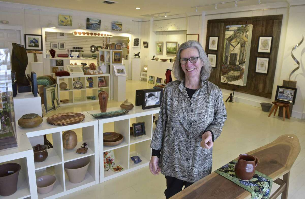 Ellen Prindle, of Warren, has opened Hen's Nest Gallery in Washington Depot. The gallery has the works of more than 40 artists on display. Friday, February 2, 2018, in Washington, Conn.