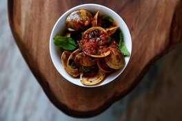 Chef Jacob Pate's inventive menu includes Singapore chili clams.