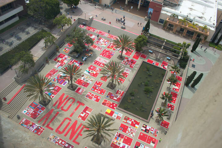 The Monument Quilt, organized by the Baltimore-based activist collective FORCE, tells the stories of survivors of sexual abuse and rape. (Courtesy Photo/FORCE)