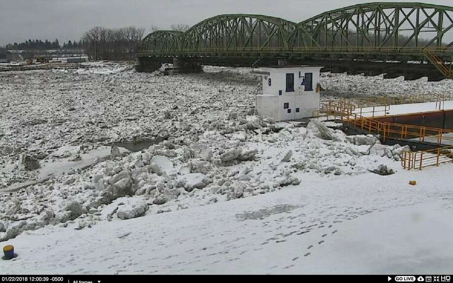 Mondays on the Mohawk | Jan. 22, 2018A U.S. Geological Survey camera is trained on the Mohawk River at Lock 8 in Schenectady.Click through the slideshow to see what this portion of the Mohawk River looked like at noon the past few Mondays this winter. Photo: U.S. Geological Survey