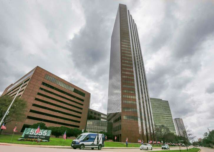 The Marathon Oil Tower, 5555 San Felipe photographed Monday, Feb. 19, 2018, in Houston. M-M Properties recently purchased the building at a deep discount with the belief that the Houston office market has bottomed out. ( Steve Gonzales / Houston Chronicle )