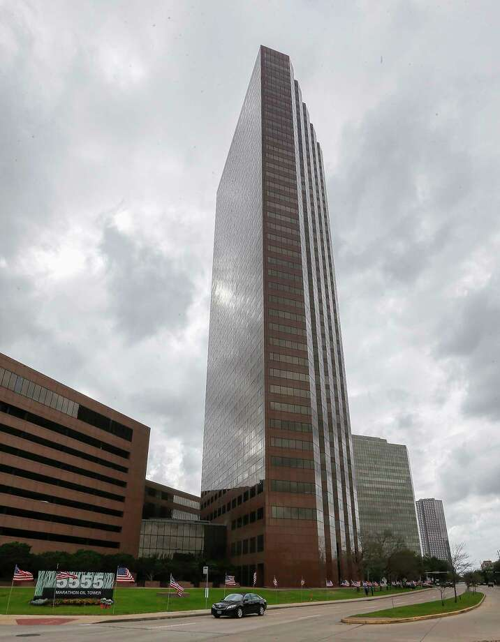 M-M Properties recently acquired the 41-story Marathon Oil Tower at 5555 San Felipe at St. James Place. The sale is a positive sign for Houston's office market, which has weakened in recent years. Photo: Steve Gonzales, Houston Chronicle / © 2018 Houston Chronicle