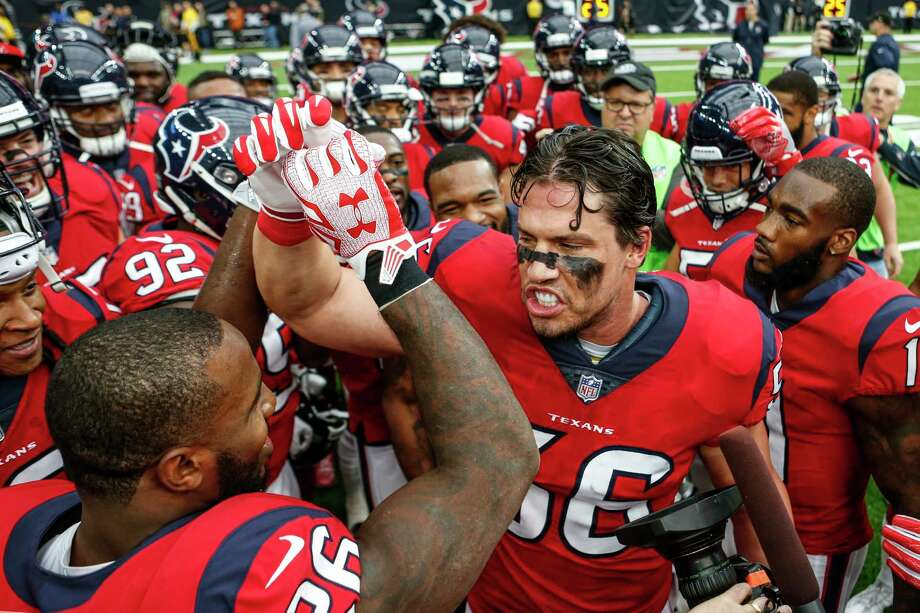 PHOTOS: Everything you need to know about Brian Cushing's career with the TexansHouston Texans inside linebacker Brian Cushing (56) gathers his teammates together before an NFL football game against the San Francisco 49ers at NRG Stadium on Sunday, Dec. 10, 2017, in Houston. ( Brett Coomer / Houston Chronicle ) Photo: Brett Coomer, Staff / © 2017 Houston Chronicle