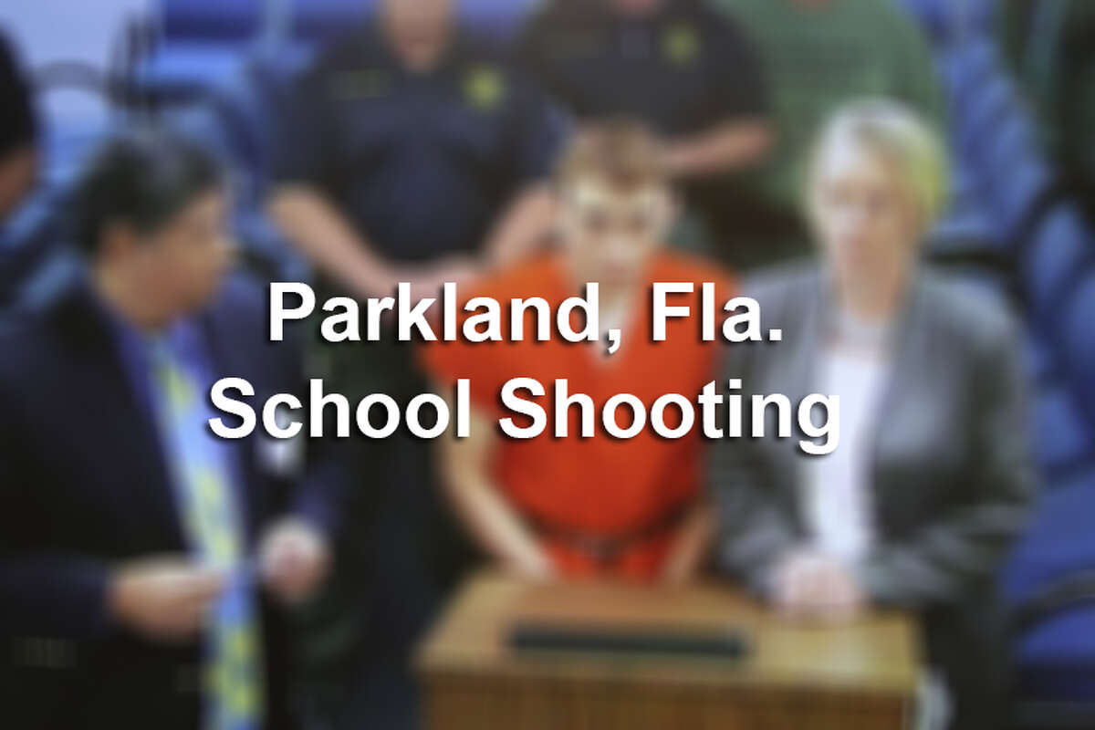 Photos from the aftermath of the Parkland, Fla. school shooting.