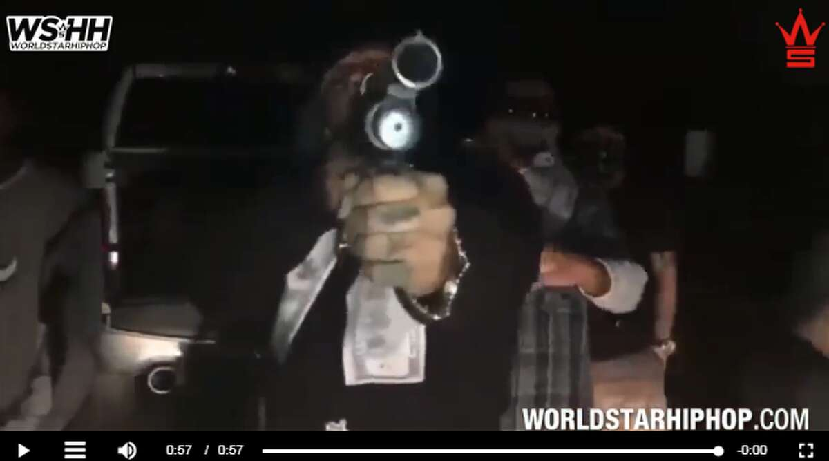 Screen capture of the video allegedly created by Tango Orejon in response to 6ix9ine's upcoming San Antonio concert.