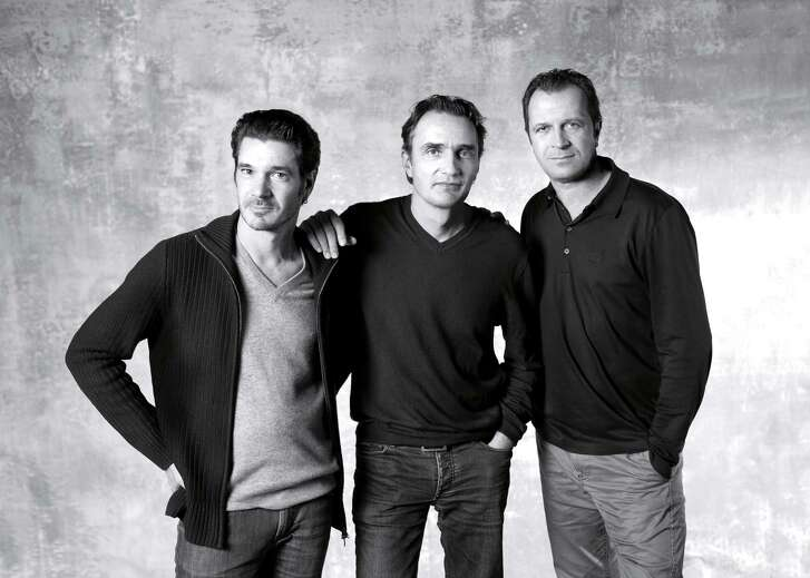Patrick Reymond, from left, Armand Louis and Aurel Aebi are architect/designers at the Swiss firm Atelier Oï.
