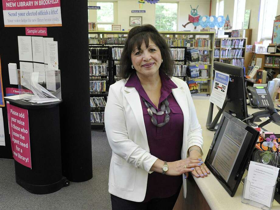 Yvonne Cech, director of the Brookfield Library, was librarian at Sandy Hook School during the shootings of 2012. Photo: Carol Kaliff / Hearst Connecticut Media / The News-Times