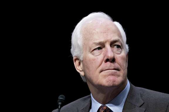 Senate Majority Whip John Cornyn, a Republican from Texas, waits to introduce witnesses during a Senate Commerce, Science and Transportation Committee confirmation hearing with Federal Trade Commission (FTC) nominees in Washington, D.C., U.S., on Wednesday, Feb. 14, 2018. The FTC, which investigates mergers and consumer-protection cases, has been operating with three empty seats on its five-member commission. Photographer: Andrew Harrer/Bloomberg